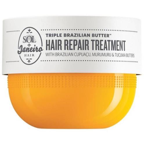Triple Brazilian Butter Hair Repair Treatment, 240 ml Sol De Janeiro H...