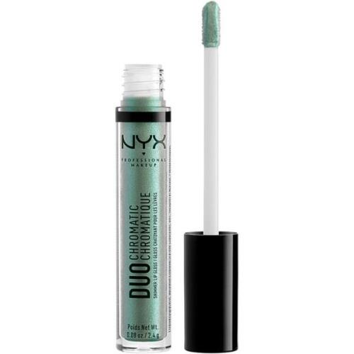 Duo Chromatic Lip Gloss, Foam Party 2,4 g NYX Professional Makeup Lipg...