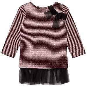 Andy & Evan Maroon Sequins Sweater Stripe Tunic 4 years
