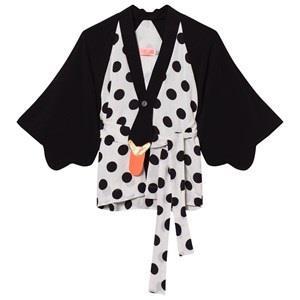 BANGBANG Copenhagen Black/White Kimmo Kimono 3-4 years