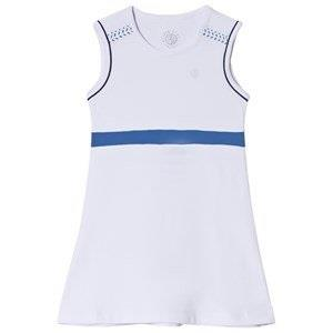 Poivre Blanc White with Blue Trim Tennis Dress 12 years