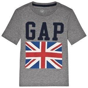 GAP Gray Heather City Flag Tee S (6-7 år)