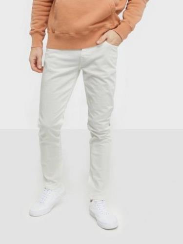 Selected Homme Slhslim-Leon 6221 Opt. White St Jea Jeans Hvit