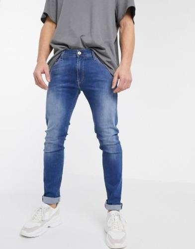 Replay Titanium skinny fit jeans in mid wash-Blue