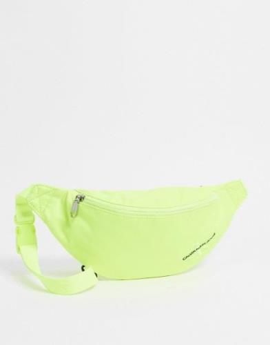Calvin Klein Jeans Streetpack bum bag in neon yellow