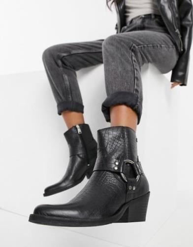 Replay Western boot in Black