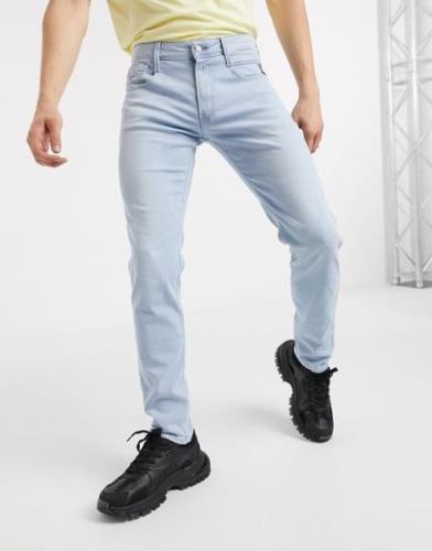 Replay Anbass slim fit jeans in light wash-Blue