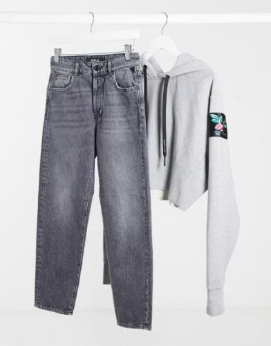 Replay Tyna mom jeans in dark grey