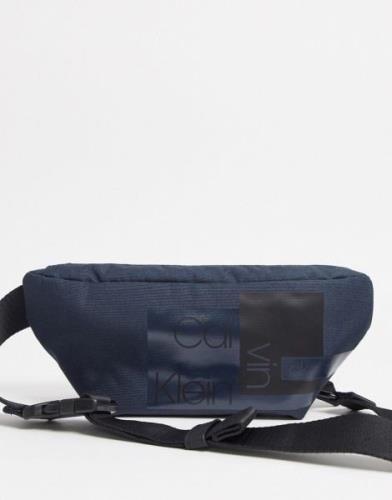 Calvin Klein Jeans nylon utility reporter bag-Black